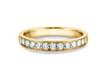Anello di Fidanzamento Alliance-/Eternityring in 14K oro giallo con diamanti 0,39ct